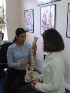 chiropractor hounslow with patient